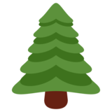 Evergreen Tree on Twitter Twemoji 1.0