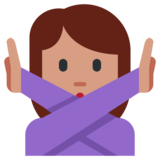 Person Gesturing No on Twitter Twemoji 1.0