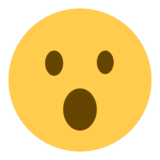 Face With Open Mouth on Twitter Twemoji 1.0