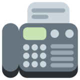 Fax Machine on Twitter Twemoji 1.0