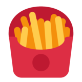 French Fries on Twitter Twemoji 1.0