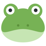 Frog Face on Twitter Twemoji 1.0