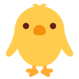 Front-Facing Baby Chick on Twitter Twemoji 1.0