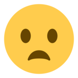 Frowning Face With Open Mouth on Twitter Twemoji 1.0
