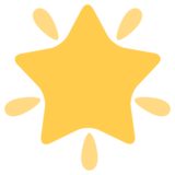 Glowing Star on Twitter Twemoji 1.0