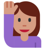 Person Raising Hand on Twitter Twemoji 1.0