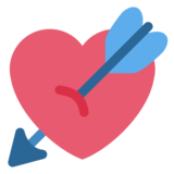 Heart with Arrow on Twitter Twemoji 1.0