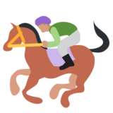 Horse Racing on Twitter Twemoji 1.0