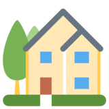 House with Garden on Twitter Twemoji 1.0