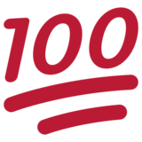 Hundred Points on Twitter Twemoji 1.0