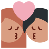 Kiss on Twitter Twemoji 1.0