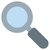 Magnifying Glass Tilted Left on Twitter Twemoji 1.0