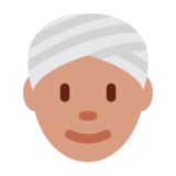 Person Wearing Turban on Twitter Twemoji 1.0