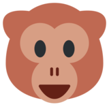 Monkey Face on Twitter Twemoji 1.0