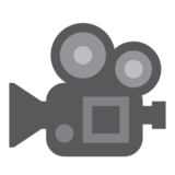 Movie Camera on Twitter Twemoji 1.0