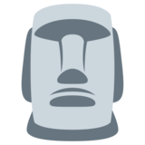 Moai on Twitter Twemoji 1.0