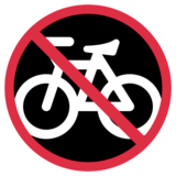 No Bicycles on Twitter Twemoji 1.0