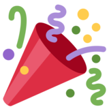 Party Popper on Twitter Twemoji 1.0