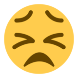 Persevering Face on Twitter Twemoji 1.0