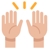Raising Hands on Twitter Twemoji 1.0