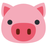 Pig Face on Twitter Twemoji 1.0