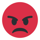 Pouting Face on Twitter Twemoji 1.0