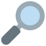Magnifying Glass Tilted Right on Twitter Twemoji 1.0