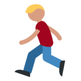 Person Running on Twitter Twemoji 1.0