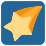 Shooting Star on Twitter Twemoji 1.0