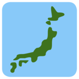 Map of Japan on Twitter Twemoji 1.0