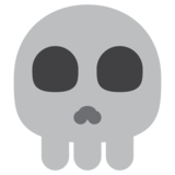 Skull on Twitter Twemoji 1.0