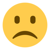 Slightly Frowning Face on Twitter Twemoji 1.0