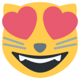 Smiling Cat Face With Heart-Eyes on Twitter Twemoji 1.0