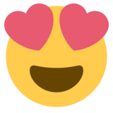 Smiling Face with Heart-Eyes on Twitter Twemoji 1.0