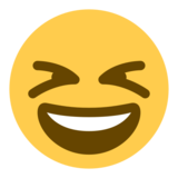 Grinning Squinting Face on Twitter Twemoji 1.0