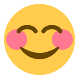 Smiling Face With Smiling Eyes on Twitter Twemoji 1.0