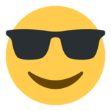 Smiling Face With Sunglasses on Twitter Twemoji 1.0