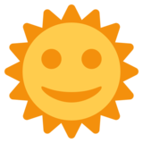 Sun With Face on Twitter Twemoji 1.0