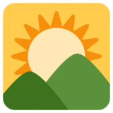 Sunrise Over Mountains on Twitter Twemoji 1.0
