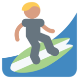Person Surfing on Twitter Twemoji 1.0