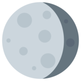 Waning Gibbous Moon on Twitter Twemoji 1.0