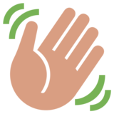 Waving Hand on Twitter Twemoji 1.0