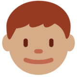 Boy: Medium Skin Tone on Twitter Twemoji 2.0