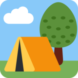 Camping on Twitter Twemoji 2.0