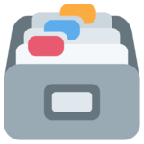 Card File Box on Twitter Twemoji 2.0