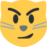 Cat Face With Wry Smile on Twitter Twemoji 2.0