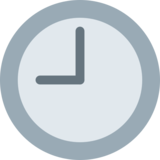 Nine O'Clock on Twitter Twemoji 2.0