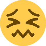 Confounded Face on Twitter Twemoji 2.0