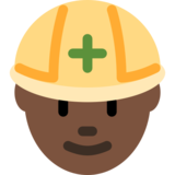 Construction Worker: Dark Skin Tone on Twitter Twemoji 2.0