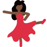 Woman Dancing: Dark Skin Tone on Twitter Twemoji 2.0